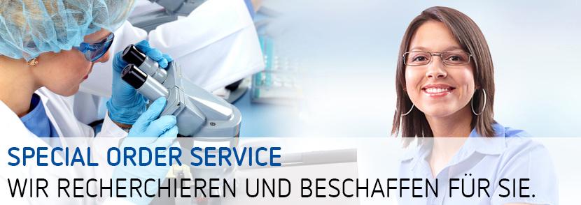 Special Order Service wir recherchieren und beschaffen für Sie