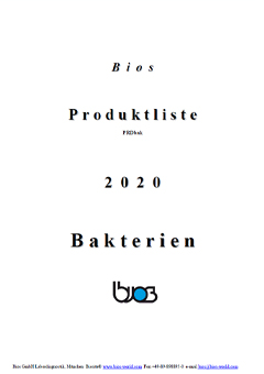 Bios bacteria product catalog