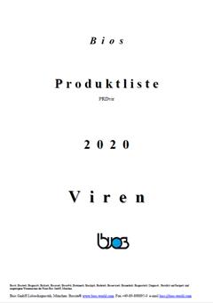 Bios Produktkatalog 2020